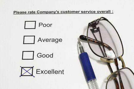 tickbox: Company Customer Service concept