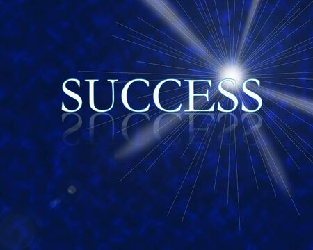 Success 3d with reflection