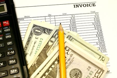 accounts payable: Invoice being paid concept