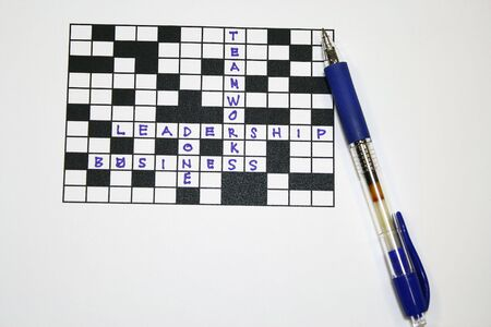Crossword - Business And Teamworks concept for business metaphors Stock Photo - 3764285