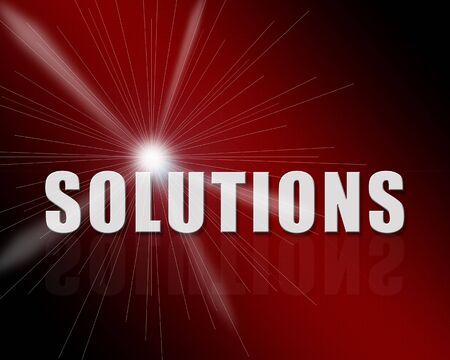 Solution 3d text in a nice background with reflecion photo