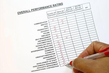 overall: El rendimiento global de calificaci�n concepto