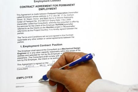 Employment Contract concept  photo
