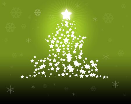 Green Christmas - christmas illustration as vector digital high resolution illustration
