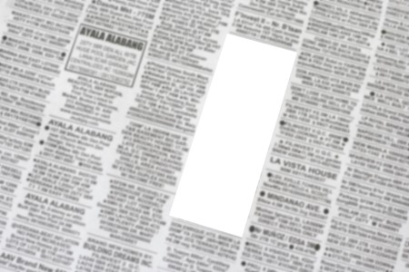 Classified Ads with ready blank white space for your commercial use photo