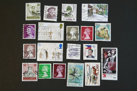 varied: Photograph of Cancel International Stamps collectibles series