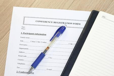 official record: Registration form