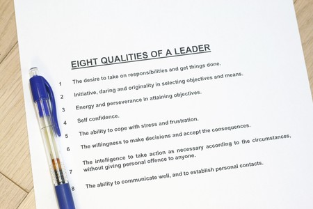 mangement: Eight qualities of a leader