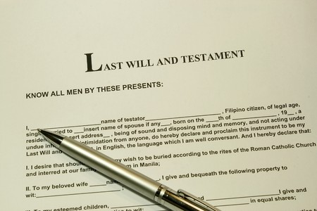 inherit: Last will and testament concept