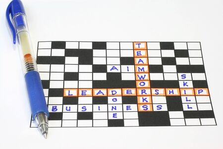 Teamworks leadership puzzle concept  Stock Photo - 4290238