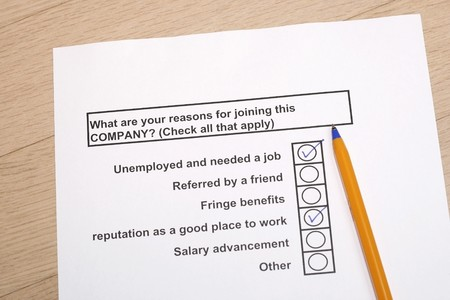 reasons: Reasons for joining a company concept