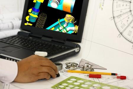 압력 용기 세부 정보 모델 검토. 참고 : 모니터의 3D 모델은 원래 제작 한 것입니다.