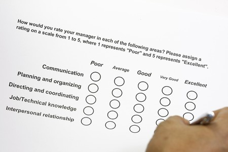 How do you rate your manager survey Stock Photo - 4382842
