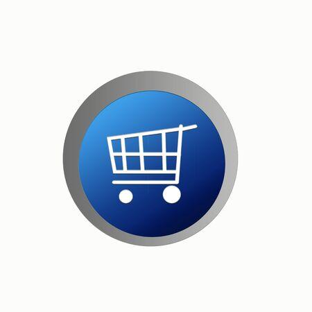 ebuy: shopping cart, button, web icon, e-buy, web button Stock Photo