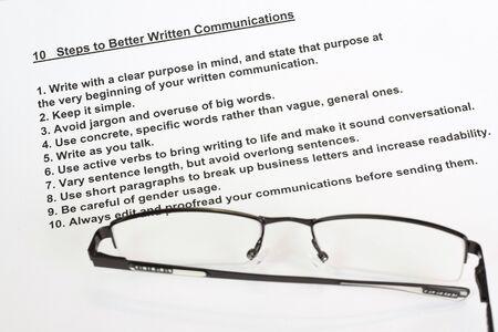 vague: Ten steps to better written communications