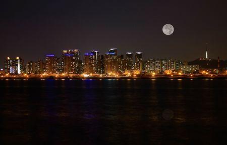 Impressive city skyline of Seoul  photo