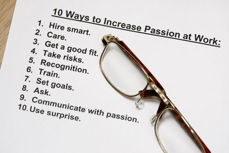 ten ways to increase passion at work  photo
