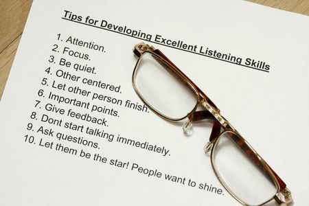 honing: Tips for developing excellent listening skills  Stock Photo