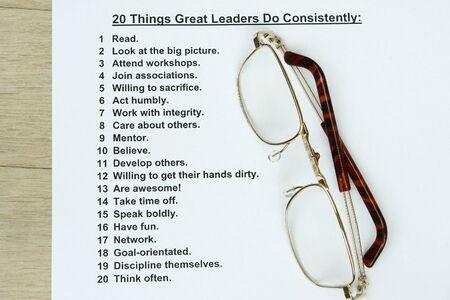 personality: 20 cosas que hacer grandes l�deres constantemente concepto