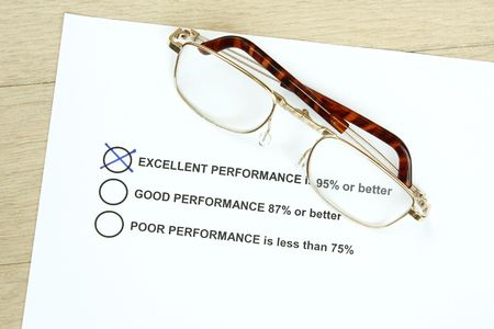 decission: Excellent Performance survey with percentage ratings - many uses for management and ratings.