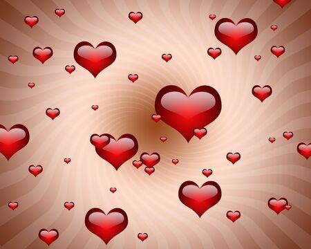 illustration of many hearts  Stock Illustration - 4703327