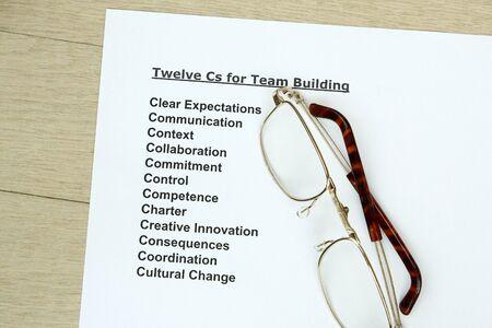 teambuilding: Twelve Cs for teambuilding