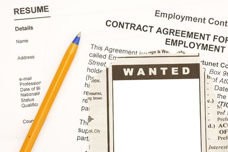 Found a job though ads Stock Photo - 4760911