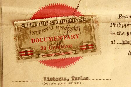 deeds: This is a Vintage 1961 documentary Stamp for register of deeds