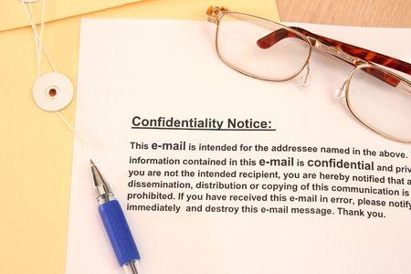 Confidentiallity Notice  photo