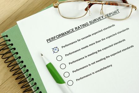 Could be performance appraisal customer service rating business performance evaluation. Stock Photo - 5358775