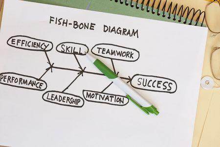 Fish bone diagram  Stock Photo - 5384247