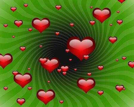 illustration of many heart shape Stock Illustration - 5384250