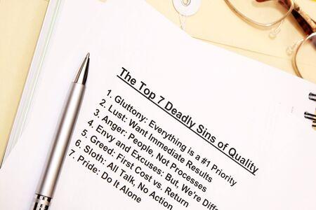 top 7: Los 7 pecados capitales del concepto de calidad de