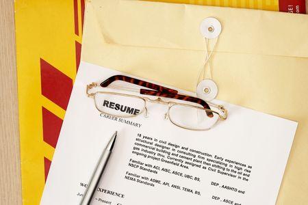 Resume - curriculum vitae  Stock Photo - 5452632