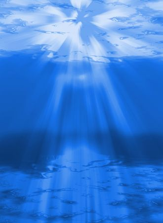 sunlight shining through the water -abyss photo