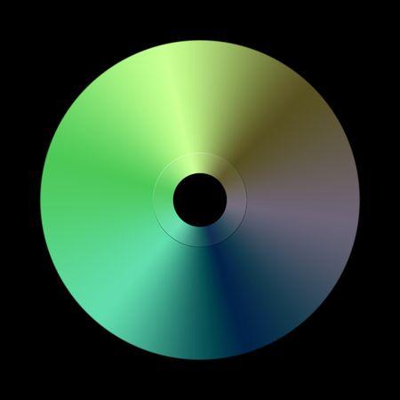 kilobyte: Blank Disc (cd  Dvd) On Black Background