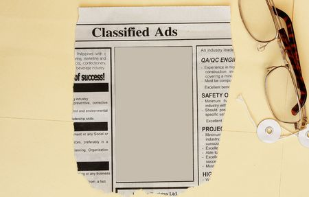 manila envelop: Newspaper classified ads