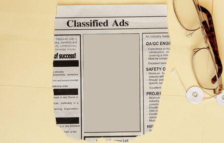 manila envelop: Newspaper classified ads