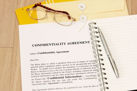 Confidentiality Agreement contract  photo