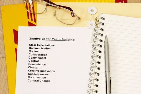 manila envelop: Twelve Cs for team building concept - many uses for seminars, workshop and training.