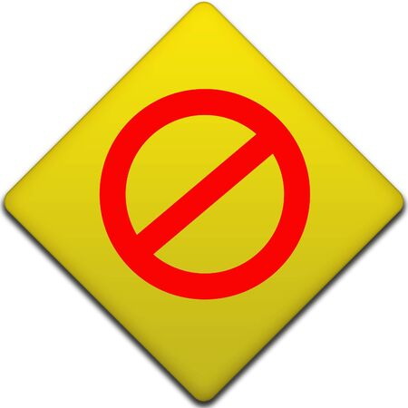 condemnation: Illustration of no entry sign