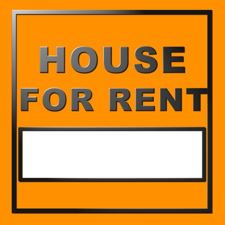 house for rent: Chrome text house for rent - many uses for real property.