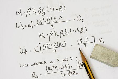 teorema: Ecuaciones de c�digo asme - muchos usos en la industria del petr�leo y el gas.  Foto de archivo