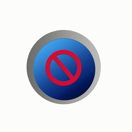 disallow: Aqua web no entry icon sign in white background