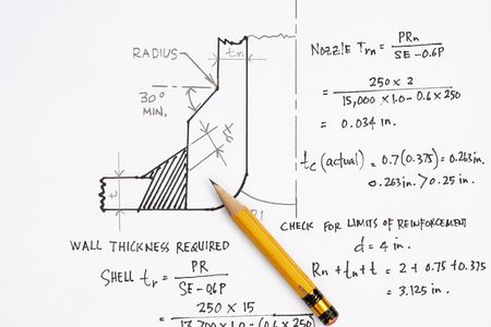 Design calculation of ASME nozzle - many uses in the oil and gas industry. photo