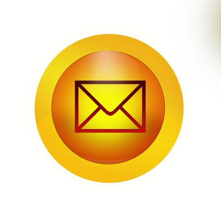 you've got mail: Youve got mail button icon for the web page.