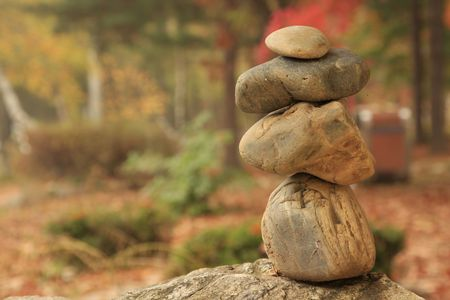 dring: Zen stone dring the month of october Stock Photo