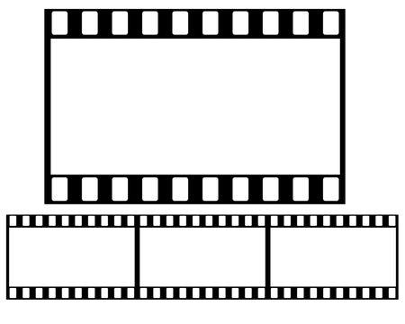 a cartoon film: 35mm Film roll illustration high resolution digital