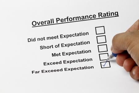 Excellent service customer satisfaction survey form Stock Photo - 5993962