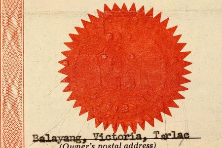 Dry seal certificates or diplomas macro shot. Stock Photo - 6103437